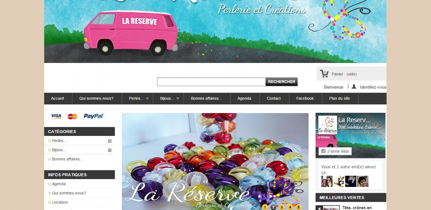 Boutique e-commerce Prestashop
